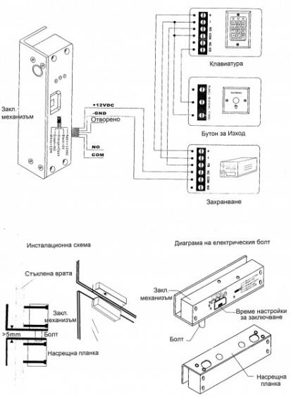 """Электронный замок для входной двери Augusta """"В"""" с дистанционным устройством"""