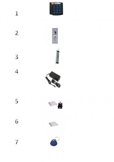 """Электронный замок для входной двери Augusta """"М"""" с дистанционным устройством"""